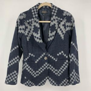 Pendleton southwestern print single button blazer